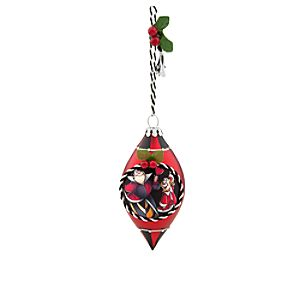 King and Queen of Hearts Glass Drop Ornament