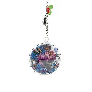 Cheshire Cat Glass Ornament