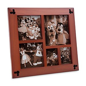 Mickey Mouse Icon Wood Photo Frame - Multi-Window
