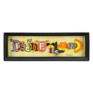 Disneyland HalloweenTime Icon Letters Shadowbox by Dave Avanzino