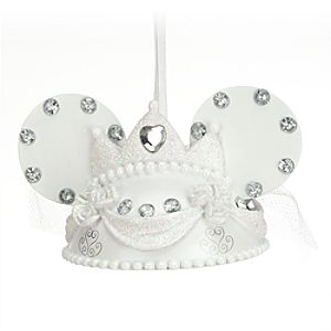 Minnie Mouse Bride Ear Hat Ornament