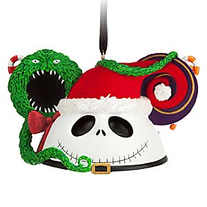 Jack Skellington as Sandy Claus Ear Hat Ornament