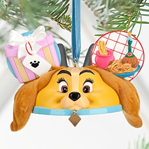 Lady and the Tramp Ear Hat Ornament