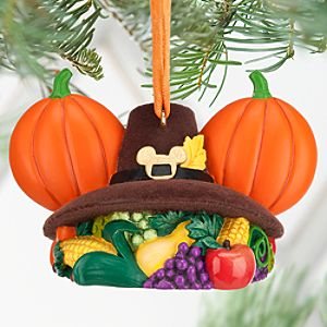 Mickey Mouse Ear Hat Ornament - Thanksgiving
