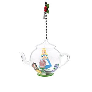 Alice in Wonderland Glass Teapot Ornament