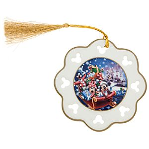 Santa Mickey Mouse and Friends Snowflake Ornament