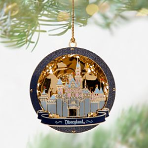 Sleeping Beauty Castle Gold Ornament