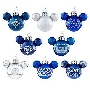 Mickey Mouse Icon Ornament Set - Blue