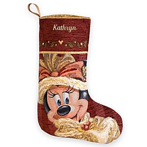 Minnie Mouse Victorian Holiday Stocking - Personalized