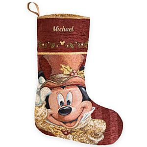Mickey Mouse Victorian Holiday Stocking - Personalized