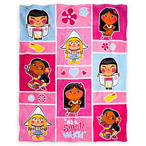 its a small world Throw Blanket