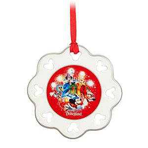 Sorcerer Mickey Mouse and Friends Snowflake Ornament - Disneyland 2014