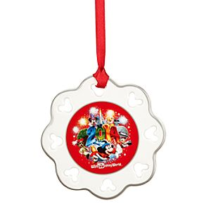 Sorcerer Mickey Mouse and Friends Snowflake Ornament - Walt Disney World 2014