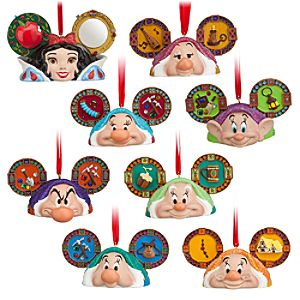 Snow White and the Seven Dwarfs Ear Hat Ornament Set