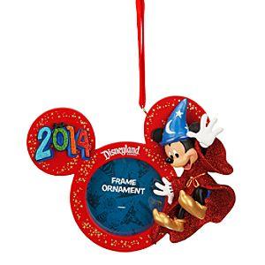 Sorcerer Mickey 2014 Frame Ornament - Disneyland