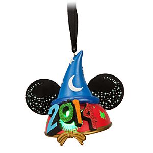 Sorcerer Mickey Mouse Light-Up Ear Hat Ornament - Disney Parks 2014