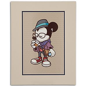 Mickey Mouse Hipster Mickey Art Print by Jerrod Maruyama