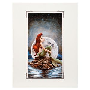 Ariel Little Mermaid Deluxe Print by Darren Wilson