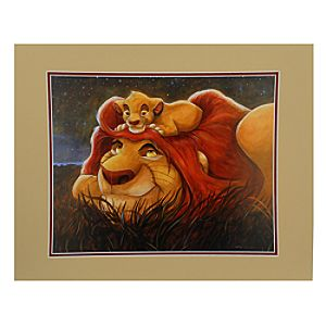 Simba and Mufasa Lion King The Bond Deluxe Print by Darren Wilson