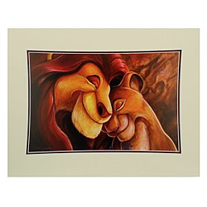 Simba and Nala ''Pride Love Everlasting'' Deluxe Print by Darren Wilson