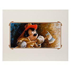 Mickey Mouse Fire Fighter Mickey Deluxe Print by Darren Wilson