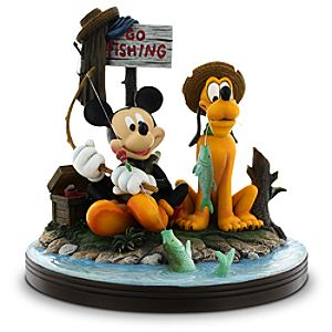 Mickey Mouse and Pluto Gone Fishing Figure