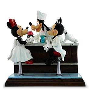 Mickey and Minnie Mouse with Goofy After the Prom Figure