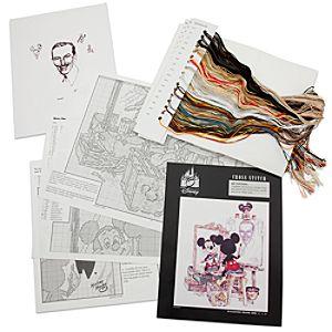 Walt Disney and Mickey Mouse Cross Stitch Set