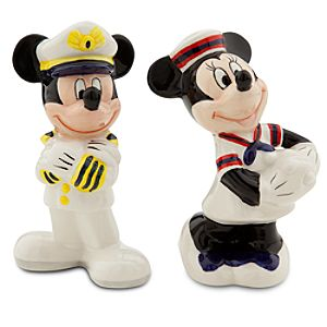 Mickey and Minnie Mouse Salt and Pepper Shaker Set - Disney Cruise Line