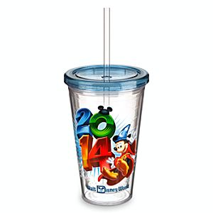 Sorcerer Mickey Mouse Tumbler with Straw - Walt Disney World 2014