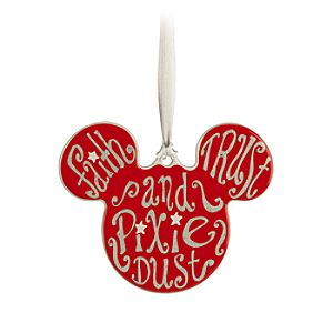Mickey Icon Ornament - Pixie Dust