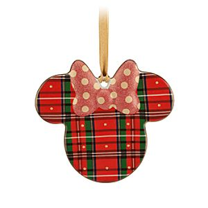 Minnie Icon Ornament - Plaid