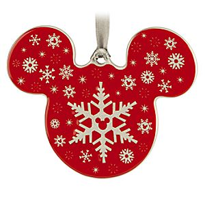 Mickey Icon Ornament - Snowflake