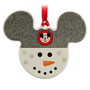 Mickey Icon Ornament - Snowman