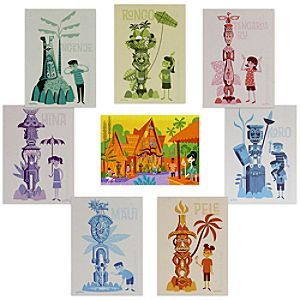 The Enchanted Tiki Room Postcard Set by Shag