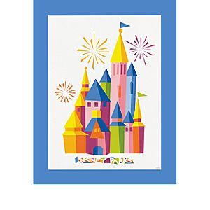 Disney Parks Castle Deluxe Print - 2014 - Limited Time Magic