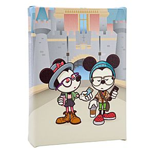 Mickey Mouse and Minnie New Castle Coffee Break Giclee on Canvas - Gallery Wrapped - Small