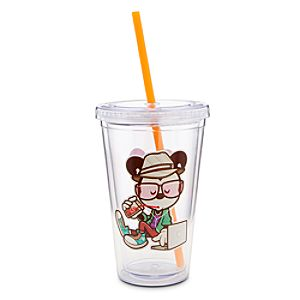 Mickey Mouse Hanging at Sams Tumbler with Straw