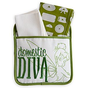 Tinker Bell Dish Towel and Pot Holder Set