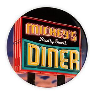Mickeys Diner Sign Souvenir Dessert Plate