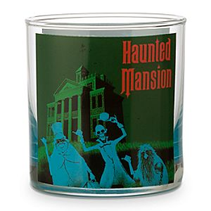 Disney Parks Attraction Poster Short Glass Tumbler - Haunted Mansion/Space Mountain