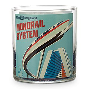 Disney Parks Attraction Poster Short Glass Tumbler - Monorail/Matterhorn Bobsleds