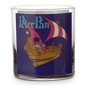 Disney Parks Attraction Poster Short Glass Tumbler - Peter Pans Flight/Dumbo