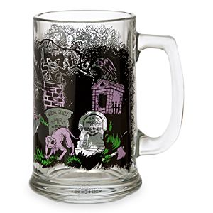 Disney Parks Attraction Art Glass Tankard - Haunted Mansion