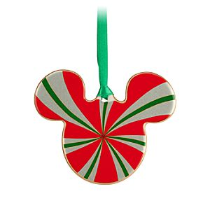 Mickey Icon Ornament - Peppermint