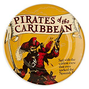 Disney Parks Attraction Poster Plate - Pirates of the Caribbean - 7