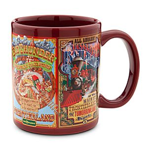 Disney Parks Attraction Poster Mug - Maroon