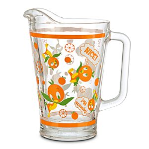 Orange Bird Glass Pitcher