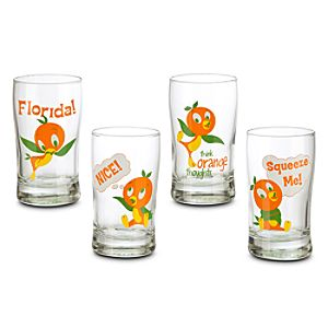 Orange Bird Juice Glass Set