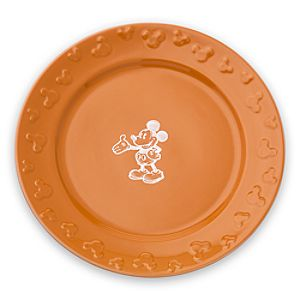 Gourmet Mickey Mouse Dinner Plate - Pumpkin/White